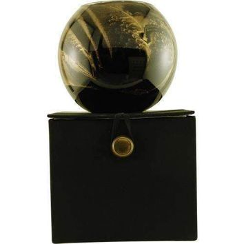 EBONY CANDLE GLOBE by Ebony Candle Globe THE INSIDE OF THIS 4 in POLISHED GLOBE IS PAINTED WITH WAX TO CREATE SWIRLS OF GOLD AND RICH HUES AND COMES IN A SATIN COVERED GIFT BOX. CANDLE IS FILLED WITH A TRANSLUCENT WAX AND SCENTED WITH MYSTERIA. BURNS APPR