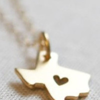 Heart of Texas Necklace in Gold