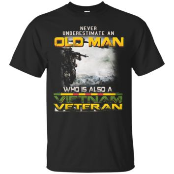 Vietnam Veteran Shirt - Army - Old Man Vietnam Veteran T-shirt