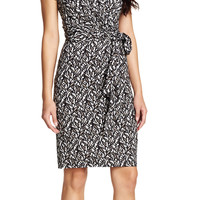 Printed Wrap Dress - Adrianna Papell