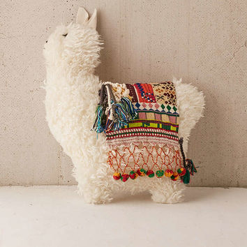 Furry Llama Pillow - Urban Outfitters