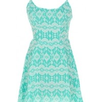 Tribal Mint Dress