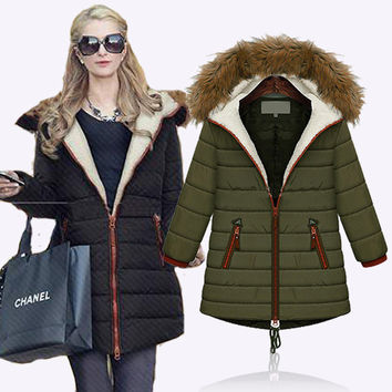 Thicken Plus Size Winter Hats Jacket [8077547713]