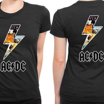 MDIG1GW ACDC Lightning Since 2 Sided Womens T Shirt