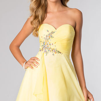 Short Strapless Sweetheart Dress- Alyce Paris 3632