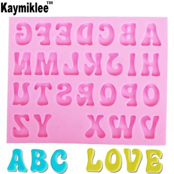 M948 Creative Letters Alphabet Silicone Mold Uppercase Fondant Cake Decorating Tools Gumpaste Chocolate Fimo Clay Candy Moulds