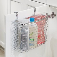InterDesign Axis Over the Cabinet Kitchen Storage Organizer Basket for Aluminum Foil, Sandwich Bags, Cleaning Supplies, Medium, Chrome - Walmart.com