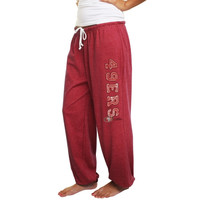 San Francisco 49ers Women's Plus Sizes Tapered Fleece Pants - Scarlet