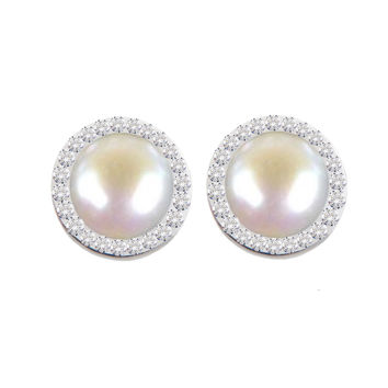 Mini Crystal Falls Forever Earrings (mother of pearl)