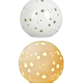 Starry Sky Globe Ceramic Night Light