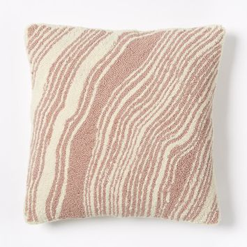 Looped Marble Pillow Cover - Rosette