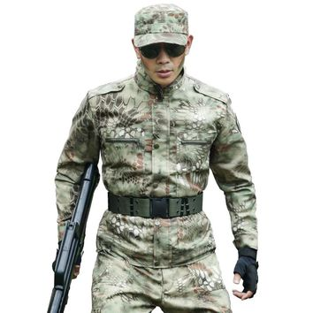 Autumn Tactical Suits Military Camouflage Jackets+Pants Pilot Windbreaker Hunting Hiking Camo Overalls Army Combat Uniforms Mens
