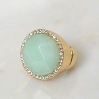 Wolves Eye Stone Ring Seafoam