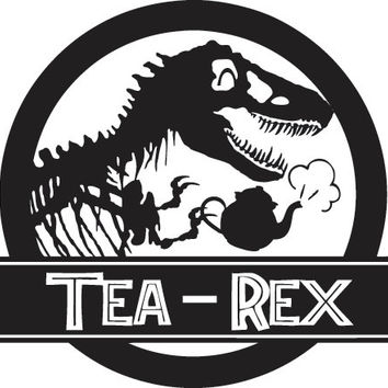 Jurassic Park Tea-Rex Decal Sticker