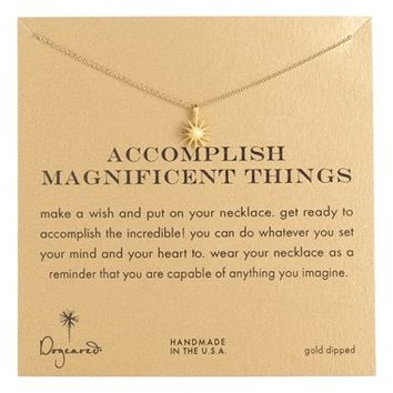 Women's Dogeared 'Accomplish Magnificent Things' Pendant Necklace