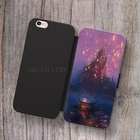 the tangled disney Wallet Leather Case for iPhone 4s 5s 5C SE 6S Plus Case, Samsung S3 S4 S5 S6 S7 Edge Note 3 4 5 Cases