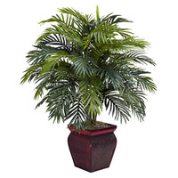 Nearly Natural Areca Floor Plant in Decorative Pot