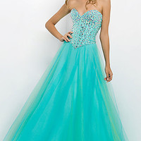 Long Strapless A-Line Gown by Blush