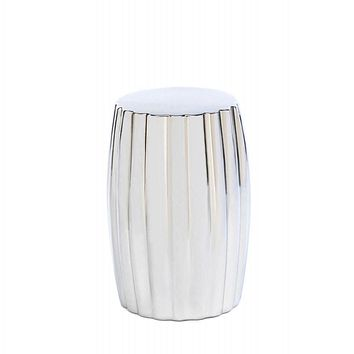 Modern Striking Silver Ceramic Stool