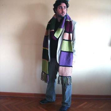 Doctor Who Scarf Extra Long Unisex Scarf Ready To Ship Tom Baker Fourth Doctor Season 12