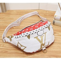 LV Fashion New Print Shopping Leisure Shoulder Bag Handbag Women White
