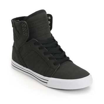 Supra Skytop Black Gunny TUF Canvas Skate Shoe
