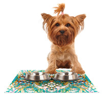 "Nikposium ""Summer Breeze"" Blue Teal Dog Place Mat"