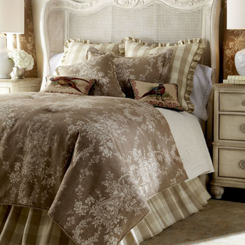 """Two 52""""W x 96""""L Country House Toile Curtains - Sherry Kline Home Collection"""