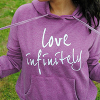 Purple Burn-out Love Infinitely Relaxed Fit Hoodie