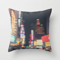 Times Square Abstract Throw Pillow by The Dreamery