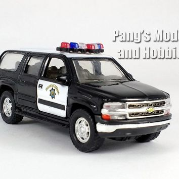5 Inch Chevy Suburban Police Patrol Scale Diecast Model by Welly