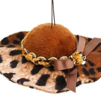 Christmas Ornament - Cheetah Print Floppy Hat