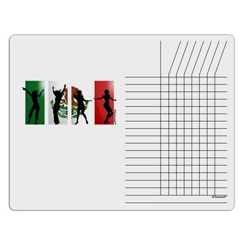 Mexican Flag - Dancing Silhouettes Chore List Grid Dry Erase Board by TooLoud