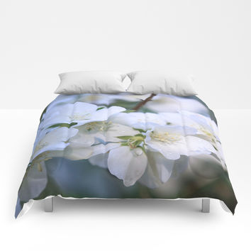 Hawthorne Flowers After Rain Comforters by Theresa Campbell D'August Art