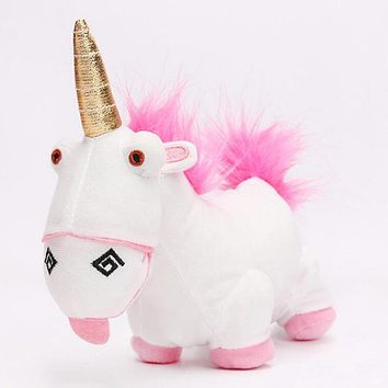 Minions Despicable Me FLUFFY Unicorn Cute Movie Plush Toy 18cm stuffed animals & plush Toys