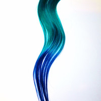 Hair ExtensionsMermaid Princess Ombre by CandyAppleLocks on Etsy