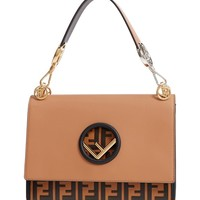 Fendi Small Kan I Logo Leather Shoulder Bag | Nordstrom