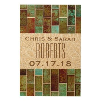 24 X 36 RUSTIC COUNTRY WEDDING GUESTBOOK WOOD WALL DECOR