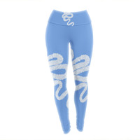 "BarmalisiRTB ""Aircraft Smoke"" Blue White Yoga Leggings"