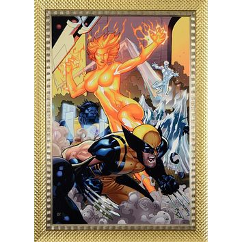 Secret Invasion: X-Men #4 - Limited Edition Giclee on Canvas by Terry Dodson and Marvel Comics Hand Signed by Stan Lee