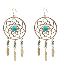 Large Dream Catcher Drop Earring