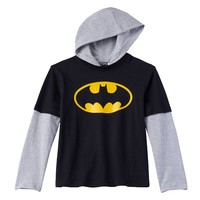 Batman Mock-Layer Hooded Tee - Boys