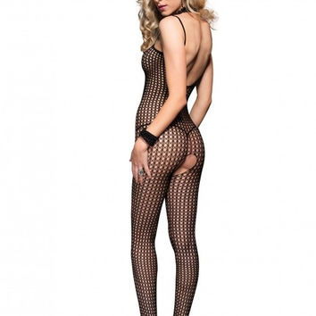 Seamless Crochet Net Bodystocking in OSXL