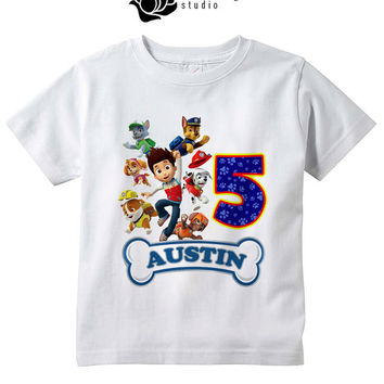 Paw Patrol Jump Design - Birthday t shirts for Child