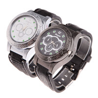 #Cu3 New Men Creative Wrist Watch with USB Windproof Flameless Cigarette Lighter