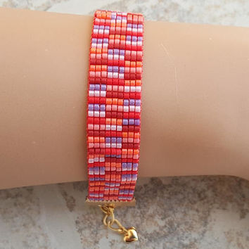 Beaded bracelet, miyuki bracelet, loom beaded bracelet, best friend gift, friendship bracelet, birthday gift, seed beads bracelet