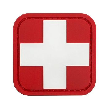 White Cross PVC Medic Patch