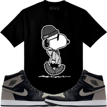 Jordan Retro 1 Shadow Sneaker Tees Shirt - SNOOPY COOL