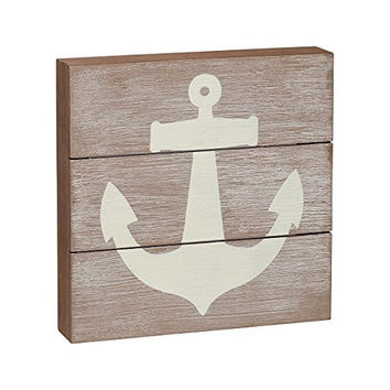 Anchor - Plankboard Box Sign 8-in