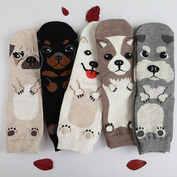 Funny Dogs Socks Womens Fashion Sock Pair Cotton Puppy Pets Casual Winter New
